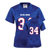 College Ladies Royal Replica Football Jersey-#34