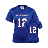 College Ladies Royal Replica Football Jersey-#12