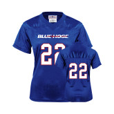 College Ladies Royal Replica Football Jersey-#22
