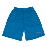 College Performance Royal 9 Inch Length Shorts-Blue Hose