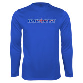 College Performance Royal Longsleeve Shirt-Blue Hose