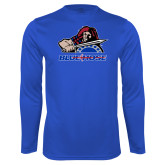 College Performance Royal Longsleeve Shirt-Mascot