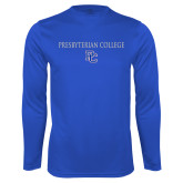College Performance Royal Longsleeve Shirt-Presbyterian College w PC