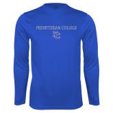 Syntrel Performance Royal Longsleeve Shirt-Presbyterian College w PC