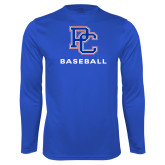College Performance Royal Longsleeve Shirt-Baseball
