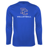 College Performance Royal Longsleeve Shirt-Volleyball