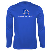 College Performance Royal Longsleeve Shirt-Cross Country