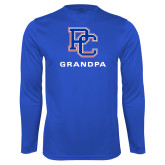 College Performance Royal Longsleeve Shirt-Grandpa