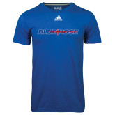 College Adidas Climalite Royal Ultimate Performance Tee-Blue Hose
