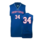 College Replica Royal Adult Basketball Jersey-#34