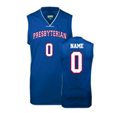 College Replica Royal Adult Basketball Jersey-Personalized