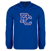 V Neck Royal Raglan Windshirt-PC