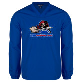 V Neck Royal Raglan Windshirt-Mascot