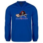 College V Neck Royal Raglan Windshirt-Mascot