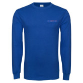 Royal Long Sleeve T Shirt-Blue Hose
