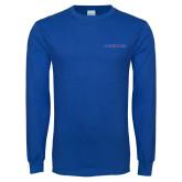Royal Long Sleeve T Shirt-Blue Hose
