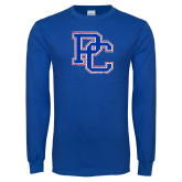 Presbyterian Royal Long Sleeve T Shirt-PC Distressed