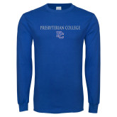 Royal Long Sleeve T Shirt-Presbyterian College w PC