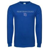 Royal Long Sleeve T Shirt-Presbyterian College w PC