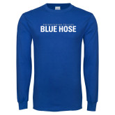 Presbyterian Royal Long Sleeve T Shirt-Presbyterian College Blue Hose Stacked