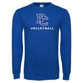 Presbyterian Royal Long Sleeve T Shirt-Volleyball