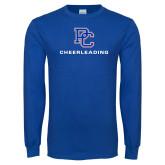 Royal Long Sleeve T Shirt-Cheerleading