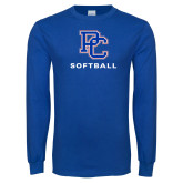 Presbyterian Royal Long Sleeve T Shirt-Softball