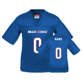 College Youth Replica Royal Football Jersey-Personalized
