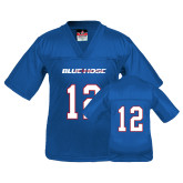 College Youth Replica Royal Football Jersey-#12