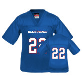 College Youth Replica Royal Football Jersey-#22