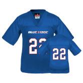 Youth Replica Royal Football Jersey-#22