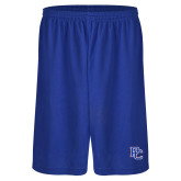 College Russell Performance Royal 9 Inch Short w/Pockets-PC