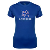 Ladies Syntrel Performance Royal Tee-Lacrosse