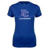 Ladies Syntrel Performance Royal Tee-Lacrosse