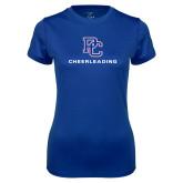 Ladies Syntrel Performance Royal Tee-Cheerleading