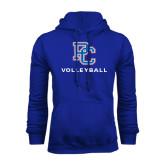 Royal Fleece Hood-Volleyball