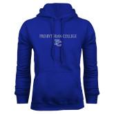 College Royal Fleece Hoodie-Presbyterian College w PC