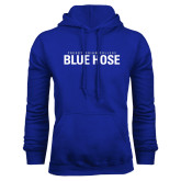 College Royal Fleece Hoodie-Presbyterian College Blue Hose Stacked