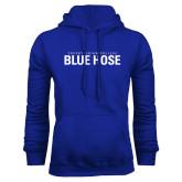 College Royal Fleece Hoodie-Presbyterian College Blue Hose Stacked