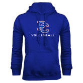 College Royal Fleece Hoodie-Volleyball