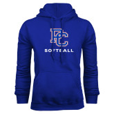 College Royal Fleece Hoodie-Softball