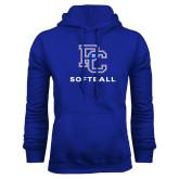 Royal Fleece Hood-Softball