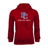 Cardinal Fleece Hood-Volleyball