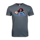 Next Level SoftStyle Charcoal T Shirt-Mascot