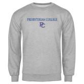 Grey Fleece Crew-Presbyterian College w PC