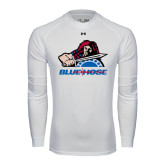 Under Armour White Long Sleeve Tech Tee-Mascot