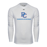 Under Armour White Long Sleeve Tech Tee-Cheerleading