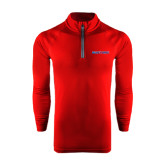 Under Armour Cardinal Tech 1/4 Zip Performance Shirt-Blue Hose