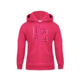 Youth Raspberry Fleece Hood-PC Foil