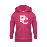 College Youth Raspberry Fleece Hoodie-PC